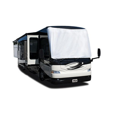 Motorhome Windshield Cover - ADCO Class A Exterior Tyvek Windshield Cover - White