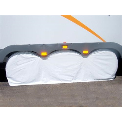 Tire Covers - ADCO - Three Axles - 30 To 32 Inch Tires - White - 1 Pack