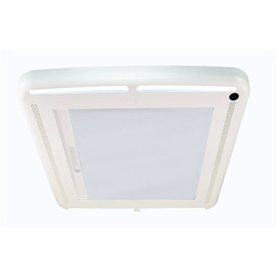RV Vent Blind - MaxxShade Plus Roof Vent Shade With LED Lights - White
