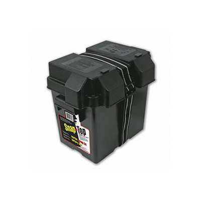Battery Box - AP Products Vented Battery Box With Lid & Strap Fits 6V Batteries
