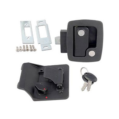 RV Door Latch - AP Products Door Lock With Bauer SCI Technology - Black