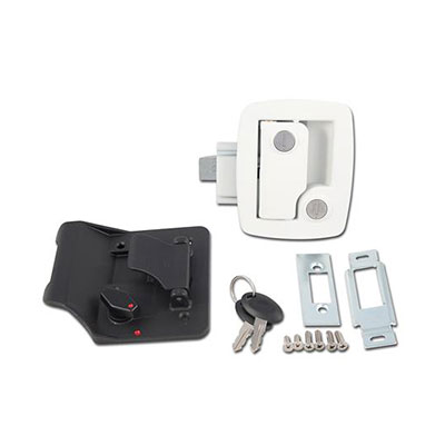 RV Door Latch - AP Products - Entrance - Bauer SCI Technology - White