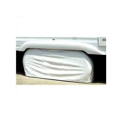 Tire Covers - ADCO - Two Axles - 27 To 29 Inch Tires - White - 1 Pack