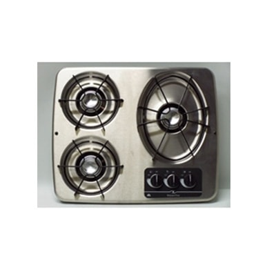 RV Cooktop - Atwood - 3 Burners - Propane - Drop-In Counter - Stainless Steel