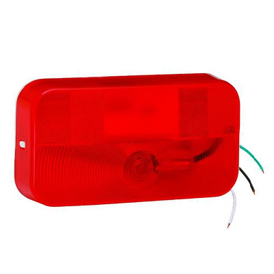 Tail Lights - Bargman 92 Series Stop/Turn Surface Mount Tail Light With Radius Corners - Red