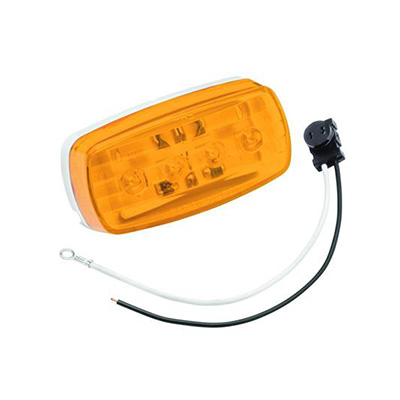 Side Marker Lights - Bargman 12V LED Stud Mount Trailer Maker Light - Amber