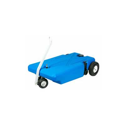 Portable Waste Tank - Barker Tote-Along Tank With Tow Handle And 4 Wheels - 16 Gallons