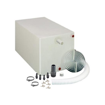 Water Holding Tank - Barker 20G Fresh Water Holding Tank With Installation Fittings - White