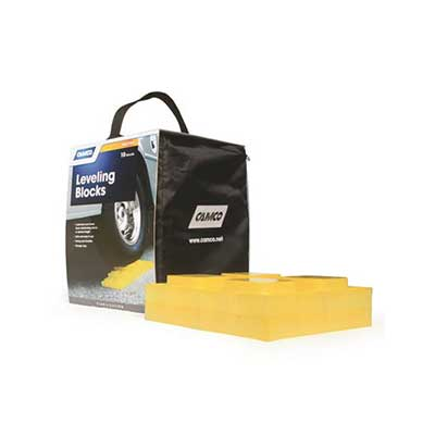 Leveling Blocks - Camco Leveling Blocks With Storage Case - 10 Per Pack