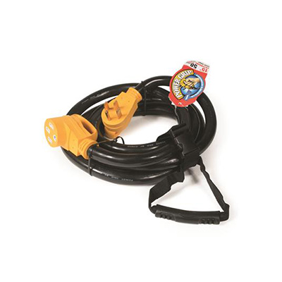 Power Cord - Camco Power Grip Extension Cord - 50A - 15'L
