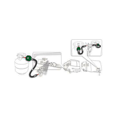 Propane Hose - Camco Pigtail Hose Connects Full-Size Propane Tank To RV Regulator 24