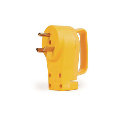 Power Cord Plug End - Camco Power Grip 30A Male Plug
