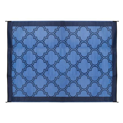 Mats - Camco Lattice 6' x 9' Outdoor Mat - Blue