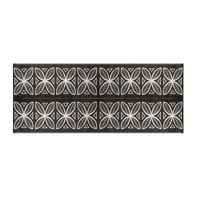 Mats - Camco Botanical 8' x 20' Outdoor Mat - Charcoal And White