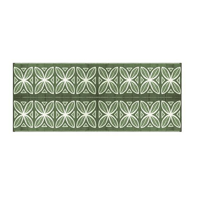 Mats - Camco Botanical 8' x 20' Outdoor Mat - Green And White