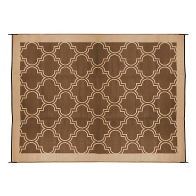 Camping Mats - Camco Lattice Camping Mat 9' x 12' Brown & Tan