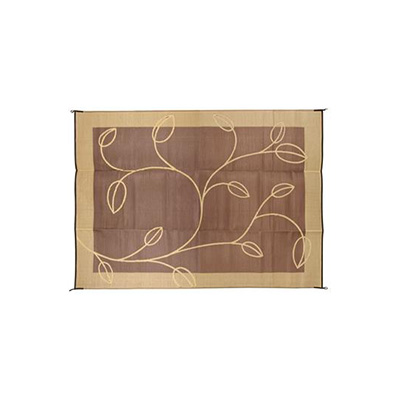 Mats - Camco Leaf 9' x 12' Outdoor Mat - Brown And Tan