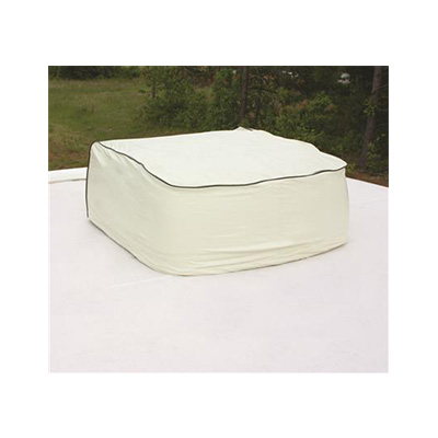 RV AC Cover - Camco - Fits Brisk Air - Colonial White