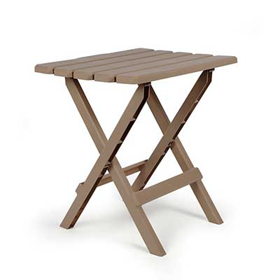 Tables - Camco Adirondack Large Plastic Table - Champagne