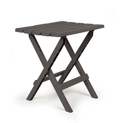Tables - Camco Adirondack Large Plastic Table - Charcoal