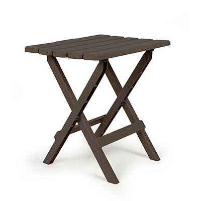 Tables - Camco Adirondack Large Plastic Table - Mocha