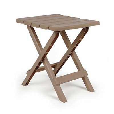 Tables - Camco Adirondack Small Plastic Table - Champagne