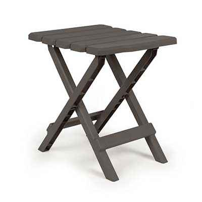 Tables - Camco Adirondack Small Plastic Table - Charcoal