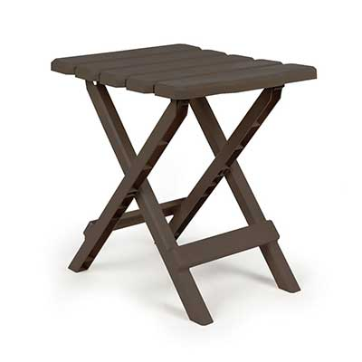 Tables - Camco Adirondack Small Plastic Table - Mocha