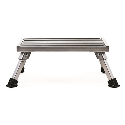 Step Stool - Camco Aluminum Platform Step With Folding Legs - 1000 Lbs Capacity