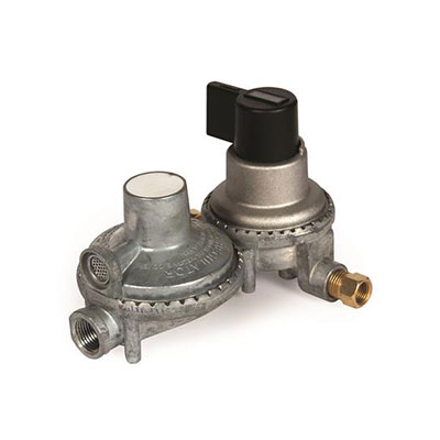 Propane Regulator - Camco 2-Stage Automatic Changeover Regulator With End Vent