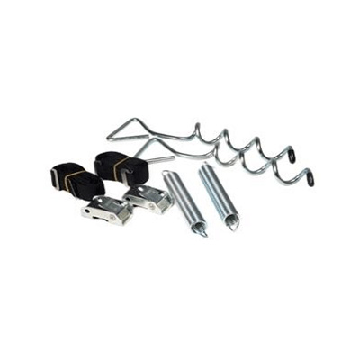 Awning Tie Downs - Camco Awning Anchor Kit With Tension Straps, Springs And Stakes