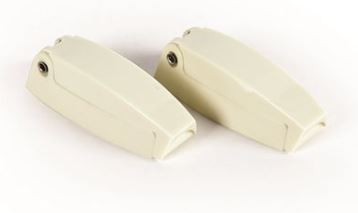 RV Door Catch - Camco - Baggage - 2 Per Pack - Colonial White
