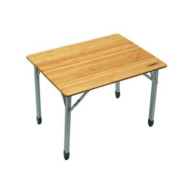 Camping Table - Camco - Bamboo Top - Folding Design - Aluminum Legs