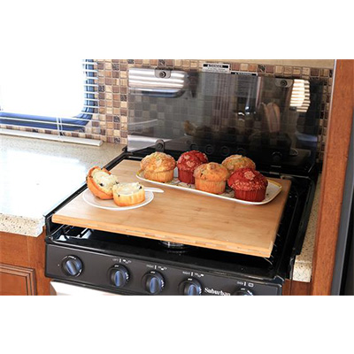 Range Cover - Silent Top Stove Top Cover - Bamboo