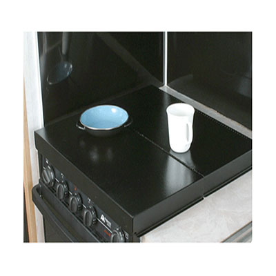 Range Cover - Camco Universal Fit Bi-Fold Stove Top Cover - Black