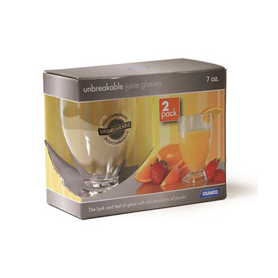 Glasses - Camco Polycarbonate Juice Glasses -  2 Per Pack