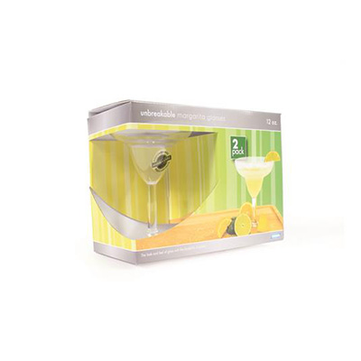 Glasses - Camco Polycarbonate Margarita Glasses - 2 Per Pack