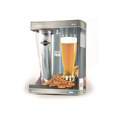 Glasses - Camco Polycarbonate Pilsner Glasses - 2 Per Pack
