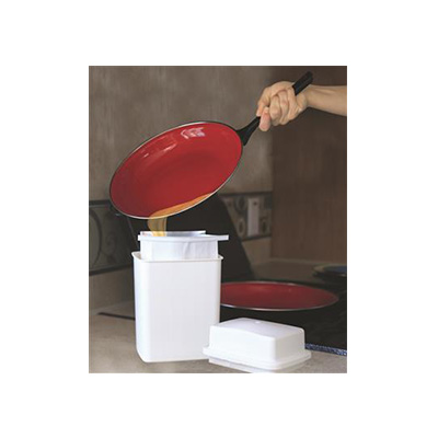 Grease Storage Container - Camco Grease Storage Bin With 3 Foil-Lined Bags