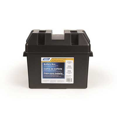 Battery Box - Camco Standard Vented Battery Box With Lid, Strap And Mounting Hardware
