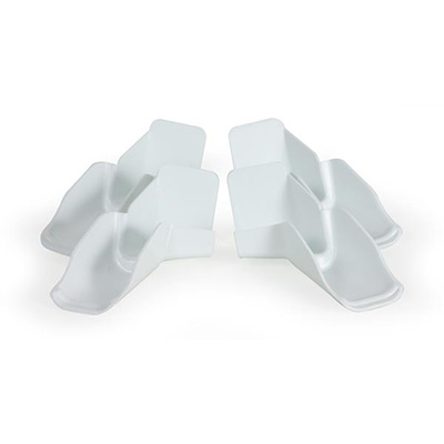 Gutter Spouts - Camco Clip-On White Gutter Spouts With Extensions - 4 Per Pack