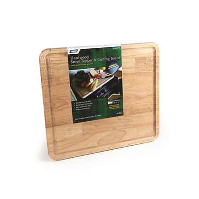 Stove Top Cover - Camco Hardwood Stove Topper & Cutting Board