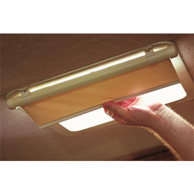 Vent Shade - Camco Lights Out Retractable Vent Shade - Cream