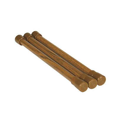Cupboard Bars - Camco Spring Loaded Oak Cupboard Bars - 3 Per Package