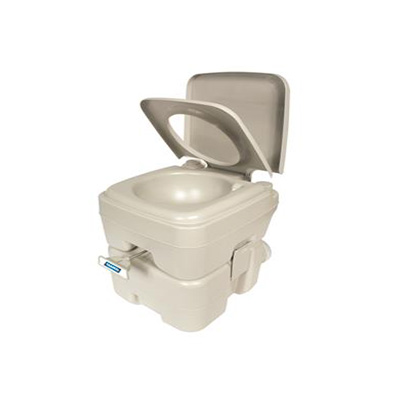 Portable Toilets - Camco Portable Toilet With Detachable Tank And Carry Handle - Beige