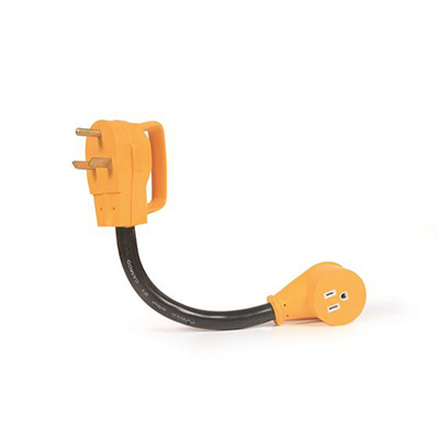 Power Cord Adapter - Power Grip Dogbone - 30A-M To 15A-F - 12