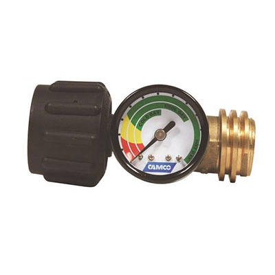 Propane Tank Gauge - Camco Propane Tank Gauge With Excess Flow & Thermal Protection