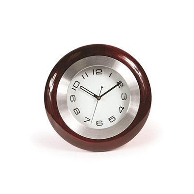 RV Clock - Camco Battery Operated Cherry Wood Clock With Mounting Bracket