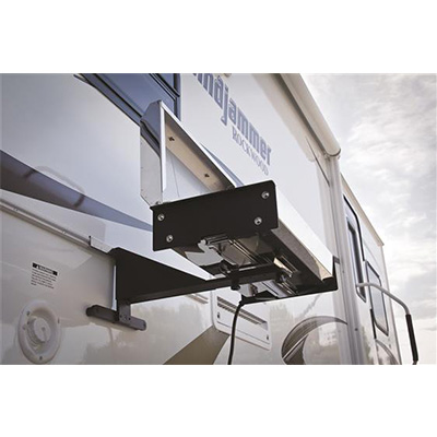 RV Grill Mount - Olympian - Universal Fit - Rail Attachment - Black