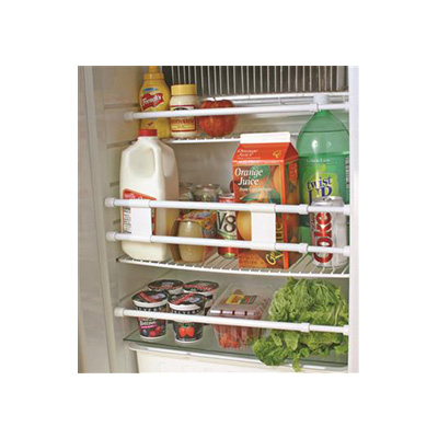 Refrigerator Bars - Camco Spring-Loaded Refrigerator Bars - White